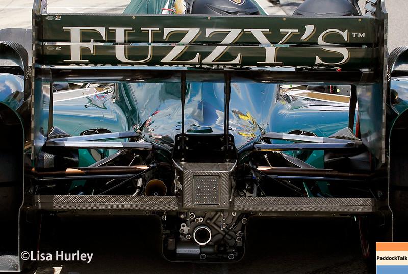 April 26:  Luca Filippi's car before the Honda Indy Grand Prix of Alabama.