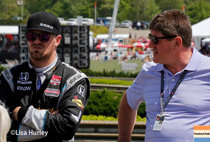 April 26:  James Jakes before the Honda Indy Grand Prix of Alabama.