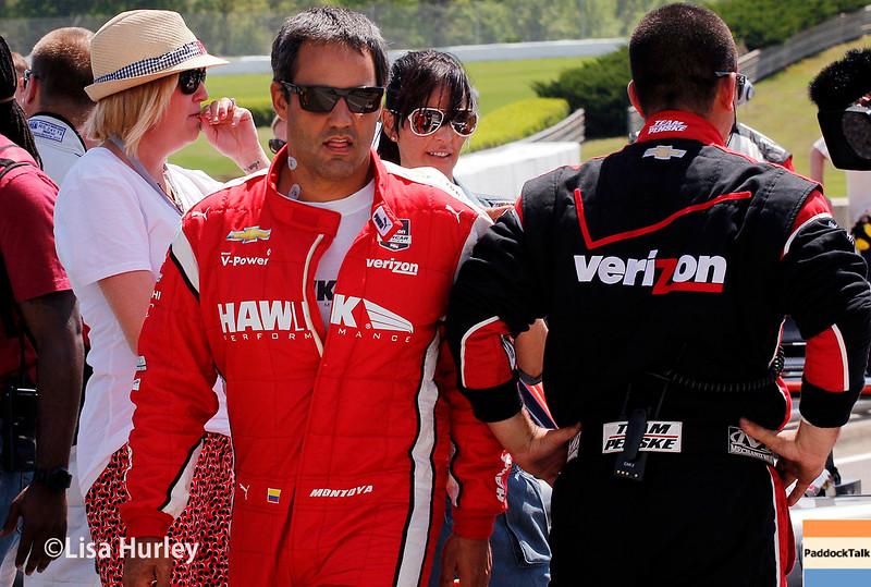 April 26:  Juan Pablo Montoya before the Honda Indy Grand Prix of Alabama.