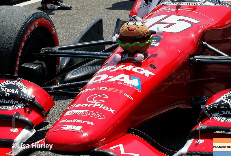 April 26:  Graham Rahal's car before the Honda Indy Grand Prix of Alabama.