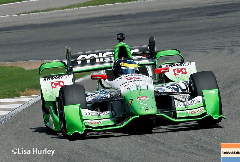 April 26: Sebastien Bourdais during the Honda Indy Grand Prix of Alabama.