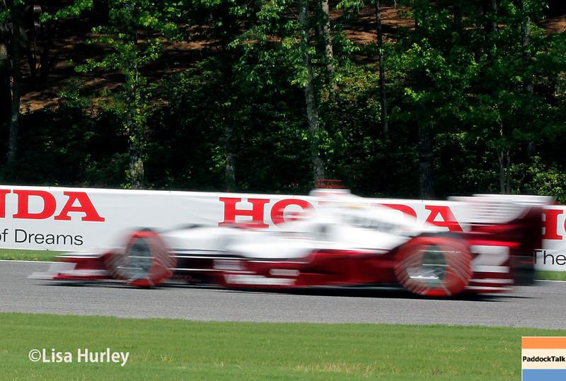 April 26:  Juan Pablo Montoya during the Honda Indy Grand Prix of Alabama.