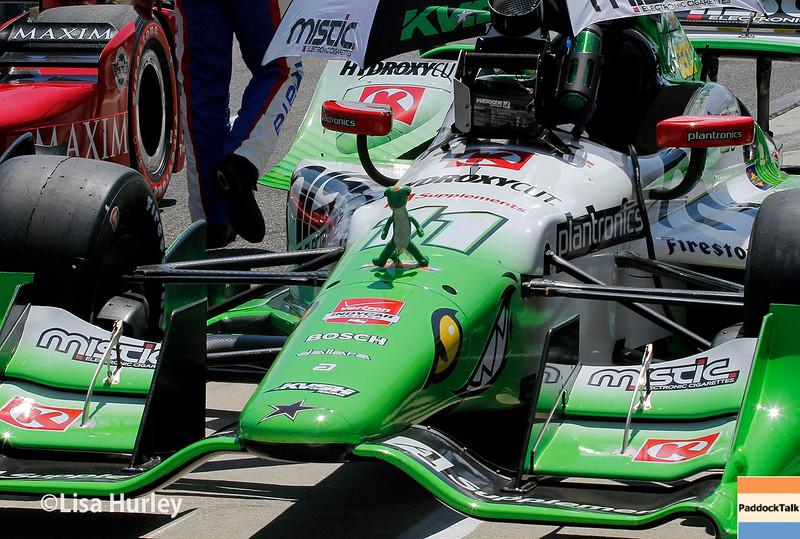 April 26:  Sebastien Bourdais' car before the Honda Indy Grand Prix of Alabama.