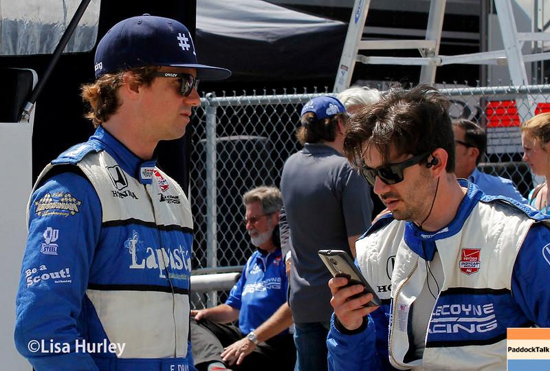 April 26:  Francesco Dracone before the Honda Indy Grand Prix of Alabama.
