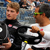 May 17: Sage Karam and Juan Pablo Montoya during qualifications for the 99th Indianapolis 500.