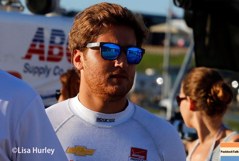 July 17-18: Stefano Coletti before the Iowa Corn 300.