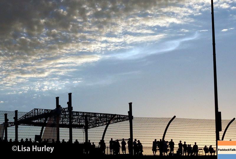 July 17-18: The sun sets at the Iowa Corn 300.
