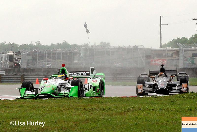 April 12: Sebastien Bourdais and Josef Newgarden during the Indy Grand Prix of Louisiana.