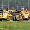 April 12: Graham Rahal and Ryan Hunter-Reay during the Indy Grand Prix of Louisiana.