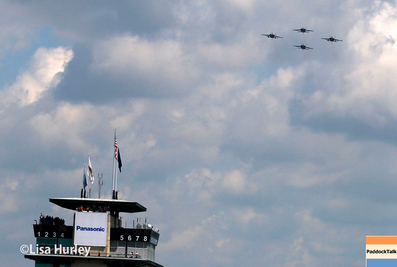 May 29: Flyover before the 100th Running of the Indianapolis 500.