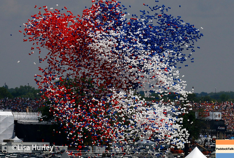 May 29: The balloon release before the 100th Running of the Indianapolis 500.