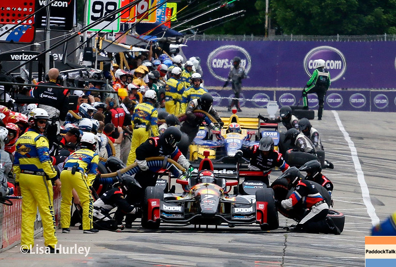 June 4-5: Pit action during the Chevrolet Detroit Belle Isle Grand Prix.