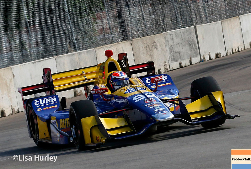 June 4-5: Alexander Rossi during the Chevrolet Detroit Belle Isle Grand Prix.
