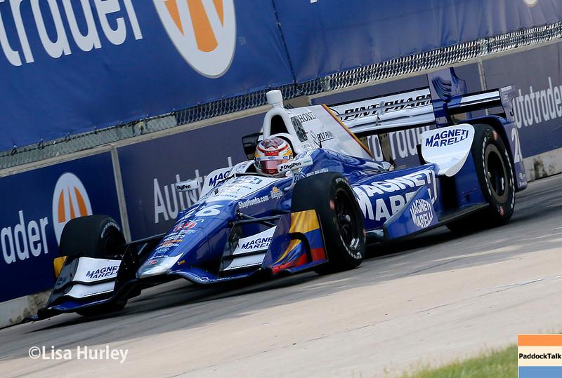 June 4-5: Carlos Munoz during the Chevrolet Detroit Belle Isle Grand Prix.
