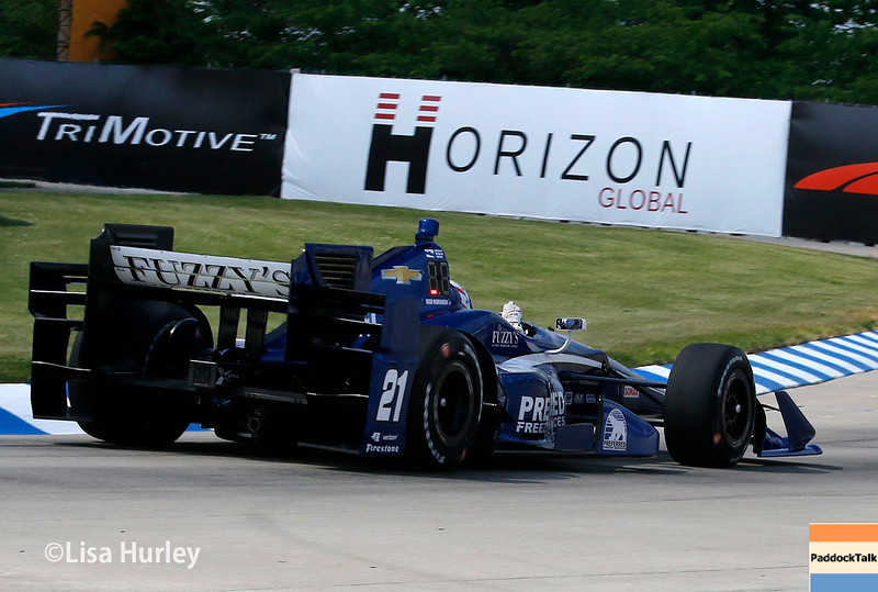 June 4-5: Josef Newgarden during the Chevrolet Detroit Belle Isle Grand Prix.