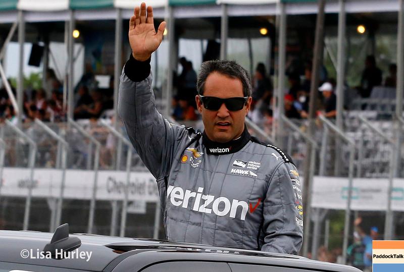 June 4-5: Juan Pablo Montoya before the Chevrolet Detroit Belle Isle Grand Prix.