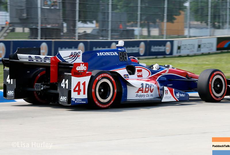 June 4-5: Jack Hawksworth during the Chevrolet Detroit Belle Isle Grand Prix.
