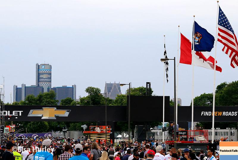 June 4-5: The Detroit skyline before the Chevrolet Detroit Belle Isle Grand Prix.