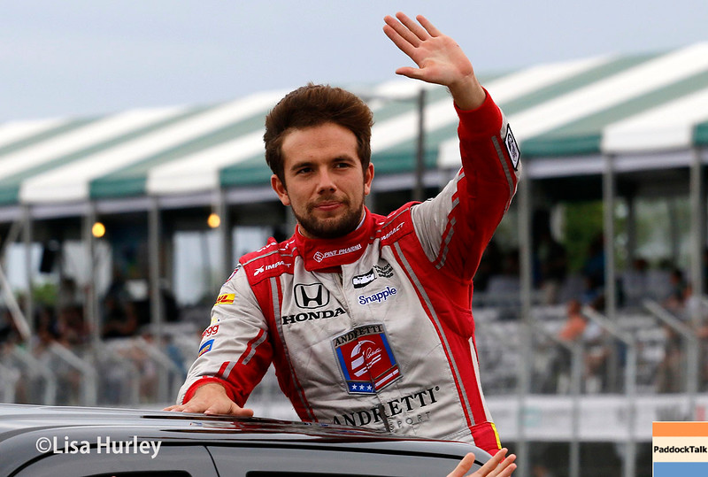 June 4-5: Carlos Munoz before the Chevrolet Detroit Belle Isle Grand Prix.