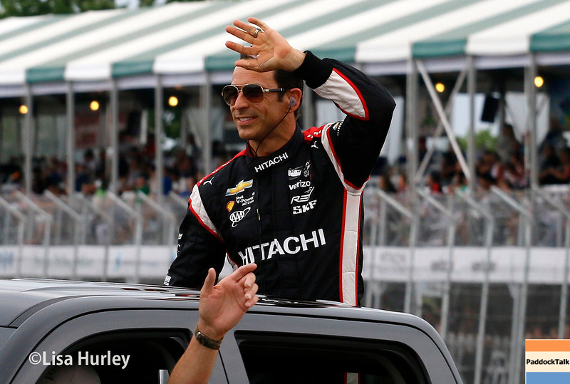 June 4-5: Helio Castroneves before the Chevrolet Detroit Belle Isle Grand Prix.