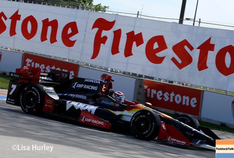 June 4-5: Mikhail Aleshin during the Chevrolet Detroit Belle Isle Grand Prix.