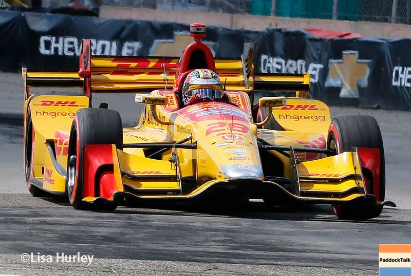 June 4-5: Ryan Hunter-Reay during the Chevrolet Detroit Belle Isle Grand Prix.