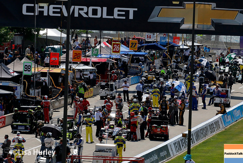 June 4-5: Pit road before the Chevrolet Detroit Belle Isle Grand Prix.