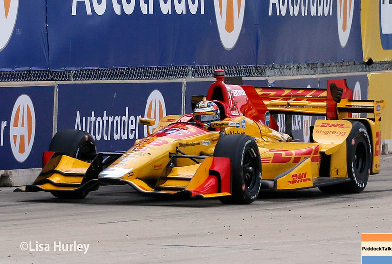 June 4-5:  Ryan Hunter-Reay during the Chevrolet Detroit Belle Isle Grand Prix.