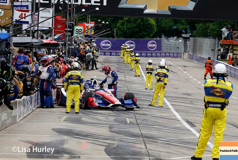 June 4-5: Pit action during the Chevrolet Detroit Belle Isle Grand Prix.