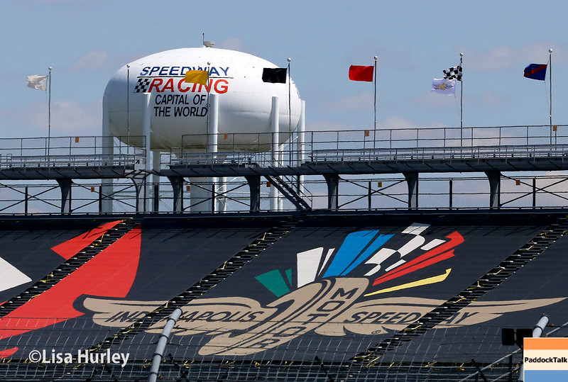 May 13-14: The stands and water tower at the Angie's List Grand Prix of Indianapolis.