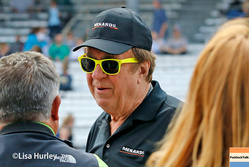 May 21-22: John Menard during qualifications for the 100th running of the Indianapolis 500.