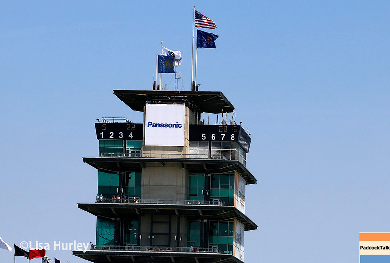 May 21-22: The pagoda during qualifications for the 100th running of the Indianapolis 500.