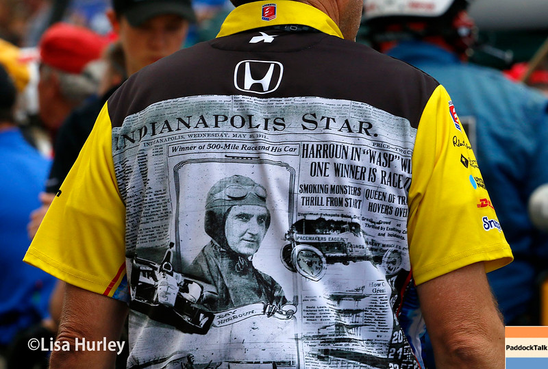 May 21-22: Townsend Bell teammate during qualifications for the 100th running of the Indianapolis 500.
