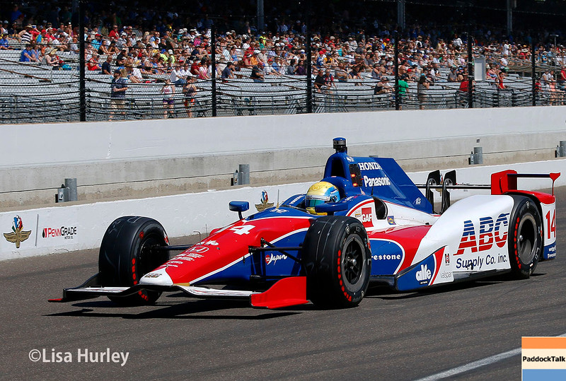 May 27: Takuma Sato during Carb Day for the 100th running of the Indianapolis 500.