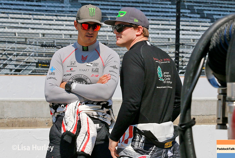 May 21-22: Graham Rahal and Conor Daly during qualifications for the 100th running of the Indianapolis 500.