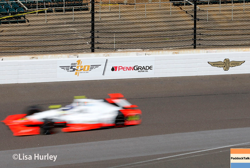 May 27: Buddy Lazier during Carb Day for the 100th running of the Indianapolis 500.