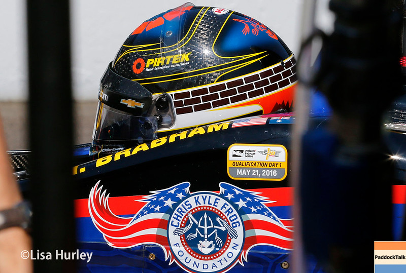 May 21-22: Matt Brabham during qualifications for the 100th running of the Indianapolis 500.