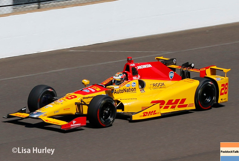 May 27: Ryan Hunter-Reay during Carb Day for the 100th running of the Indianapolis 500.