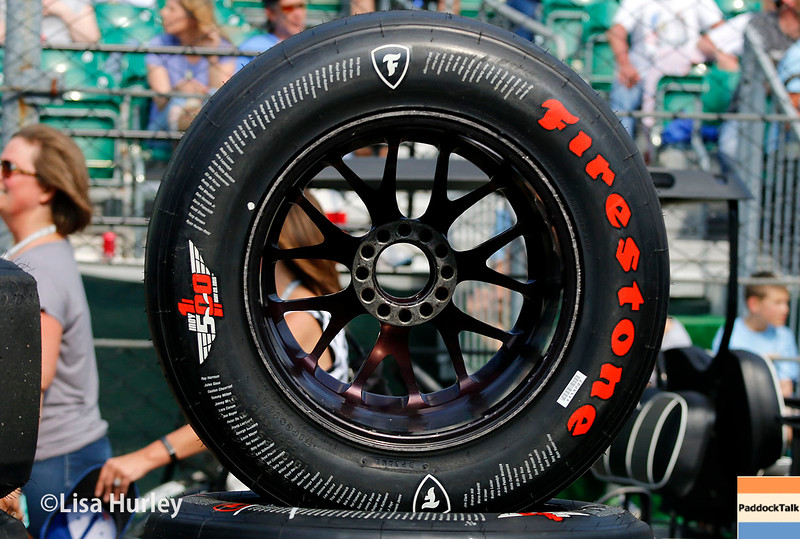 May 21-22: Firestone tire during qualifications for the 100th running of the Indianapolis 500.