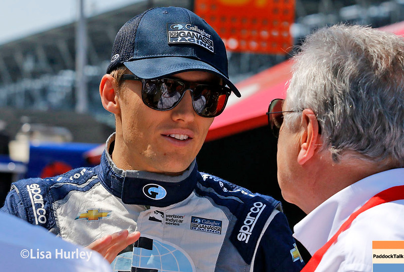 May 21-22: Max Chilton during qualifications for the 100th running of the Indianapolis 500.