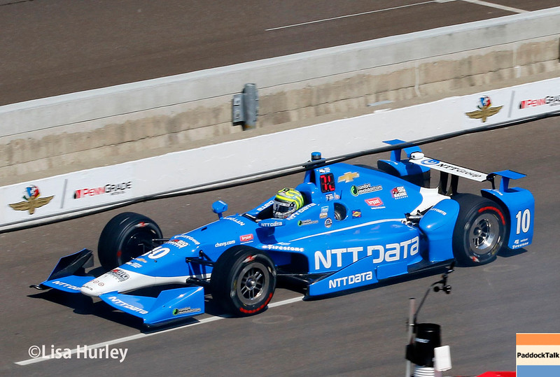 May 27: Tony Kanaan during Carb Day for the 100th running of the Indianapolis 500.