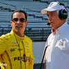 May 21-22: Helio Castroneves and Roger Penske during qualifications for the 100th running of the Indianapolis 500.