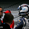 May 21-22: Dario Franchitti and Max Chilton during qualifications for the 100th running of the Indianapolis 500.