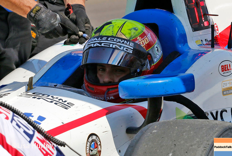 May 27: Gabby Chaves during Carb Day for the 100th running of the Indianapolis 500.