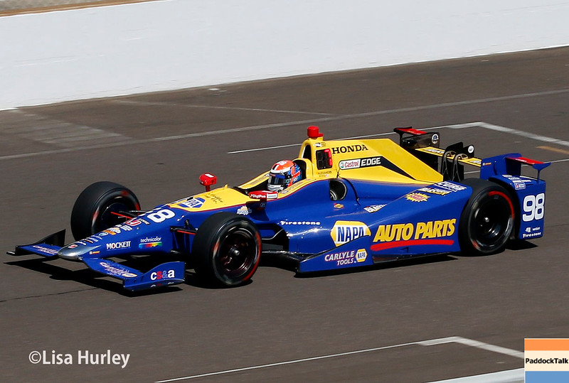 May 27: Alexander Rossi during Carb Day for the 100th running of the Indianapolis 500.