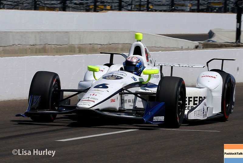 May 27: JR Hildebrand during Carb Day for the 100th running of the Indianapolis 500.