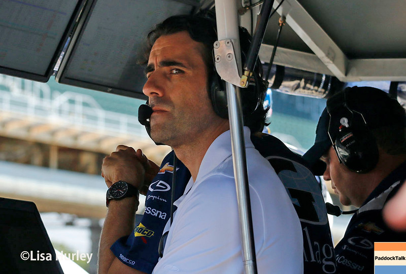 May 27: Dario Franchitti during Carb Day for the 100th running of the Indianapolis 500.