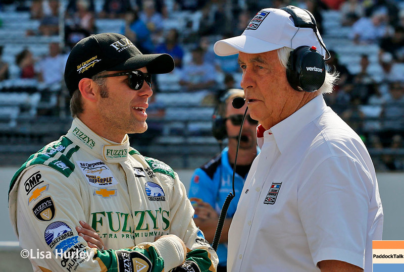 May 21-22: Ed Carpenter and Roger Penske during qualifications for the 100th running of the Indianapolis 500.