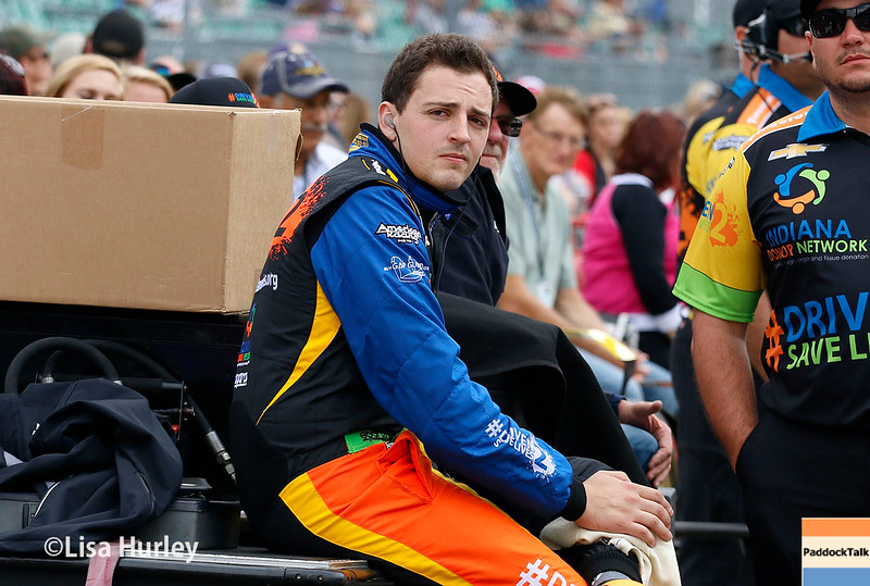 May 21-22: Stefan Wilson during qualifications for the 100th running of the Indianapolis 500.