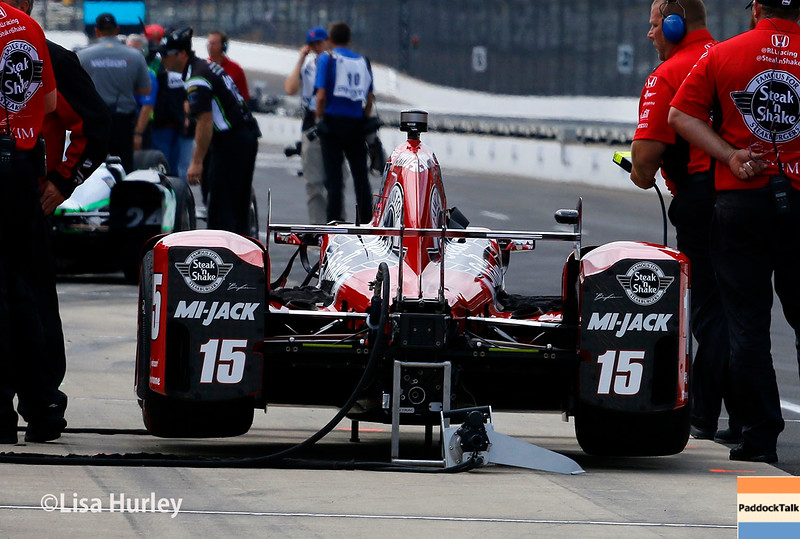 May 21-22: Graham Rahal's car during qualifications for the 100th running of the Indianapolis 500.